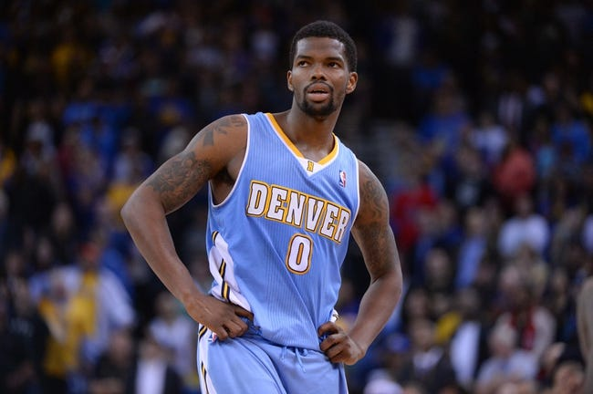 April 10, 2014; Oakland, CA, USA; Denver Nuggets guard Aaron Brooks (0) during the fourth quarter against the Golden State Warriors at Oracle Arena. The Nuggets defeated the Warriors 100-99. Mandatory Credit: Kyle Terada-USA TODAY Sports