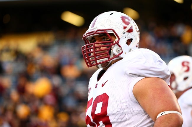 Dec 7, 2013; Tempe, AZ, USA; Stanford Cardinal defensive tackle David Parry against the Arizona State Sun Devils at Sun Devil Stadium. Stanford defeated Arizona State 38-14. Mandatory Credit: Mark J. Rebilas-USA TODAY Sports