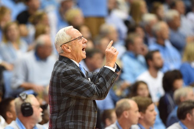 Jan 16, 2017; Chapel Hill, NC, USA; North Carolina Tar Heels head coach Roy Williams reacts in the second half. The Tar Heels defeated Syracuse Orange 85-68 at Dean E. Smith Center. Mandatory Credit: Bob Donnan-USA TODAY Sports