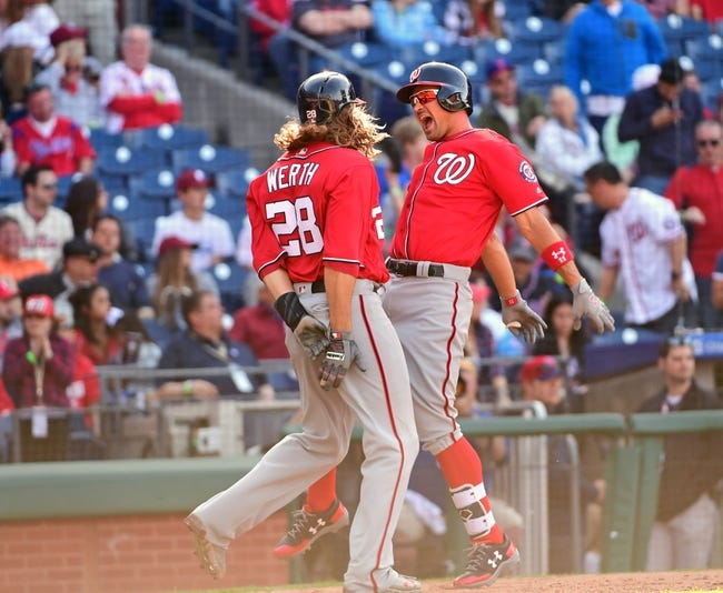 Murphy's RBI double in 10th lifts Nats over Phils