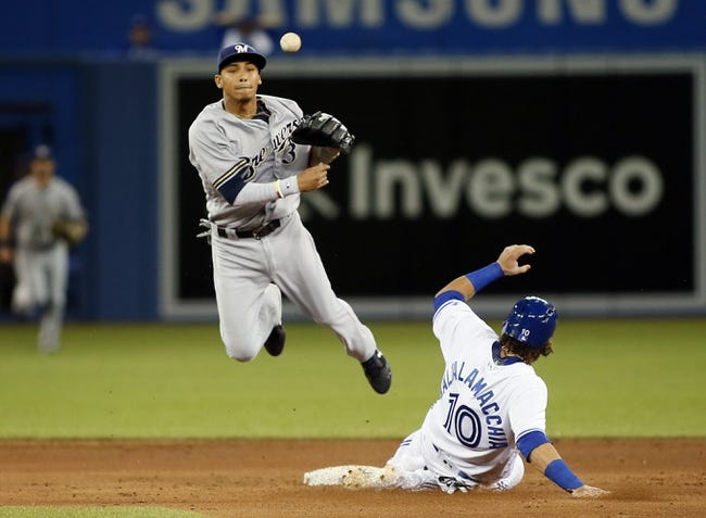 Jose Bautista's big bat helps Blue Jays soar past Brewers