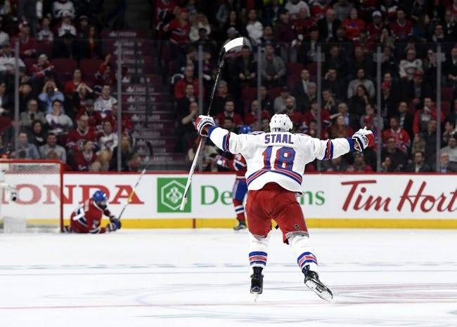 National Hockey League  scores: Canadiens blanked by Rangers in playoff opener
