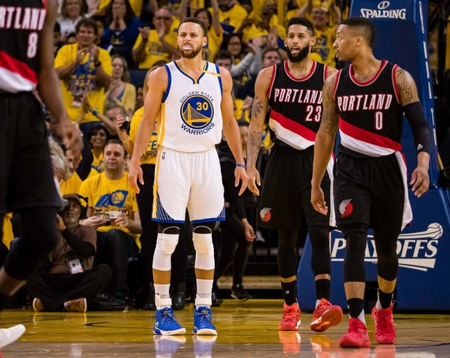 Portland Trail Blazers vs. Golden State Warriors - 4/22/17 NBA Pick, Odds, and Prediction