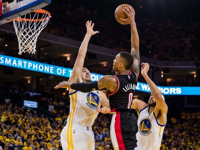 Golden State Warriors at Portland Trail Blazers - 4/22/17 NBA Pick, Odds, and Prediction