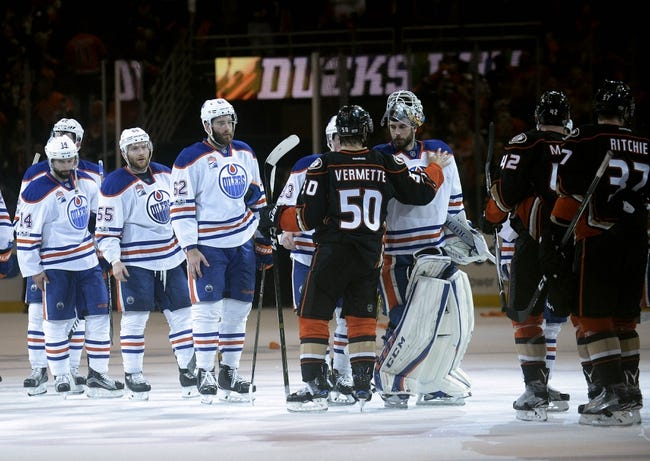 Edmonton Oilers vs. Anaheim Ducks - 1/4/18 NHL Pick, Odds, and Prediction