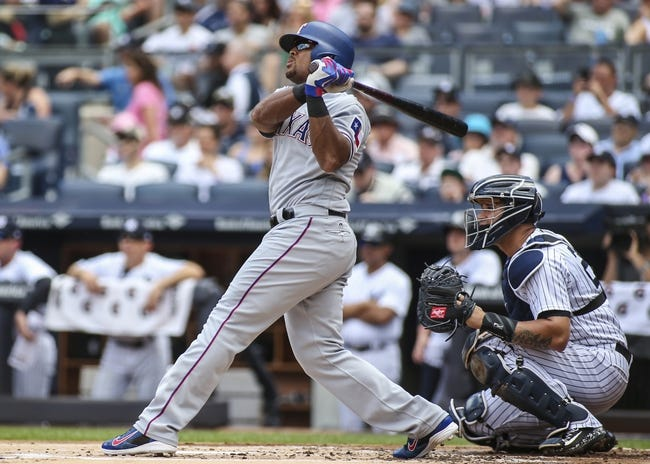 Texas Rangers vs. New York Yankees - 9/8/17 MLB Pick, Odds, and Prediction