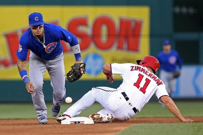 Cubs catcher Willson Contreras batting leadoff against Nationals