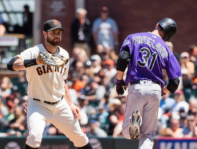 Colorado Rockies vs. San Francisco Giants - 9/5/17 MLB Pick, Odds, and Prediction