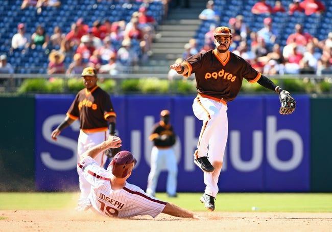 San Diego Padres vs. Philadelphia Phillies - 8/15/17 MLB Pick, Odds, and Prediction