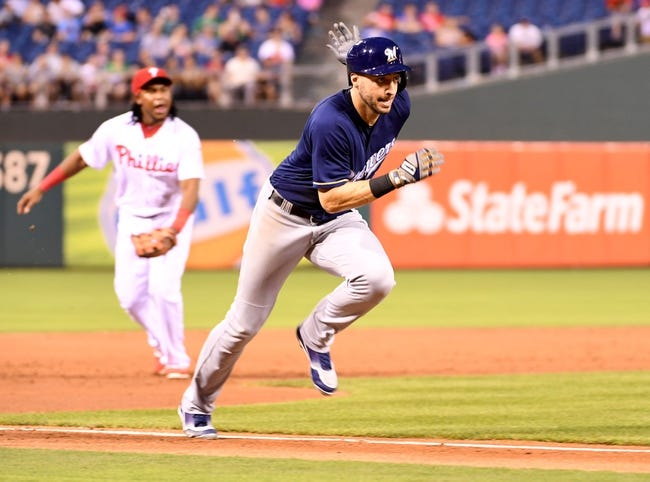 Philadelphia Phillies vs. Milwaukee Brewers - 7/23/17 MLB Pick, Odds, and Prediction
