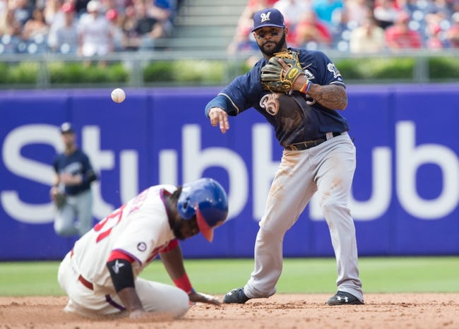 Philadelphia Phillies vs. Milwaukee Brewers - 6/8/18 MLB Pick, Odds, and Prediction