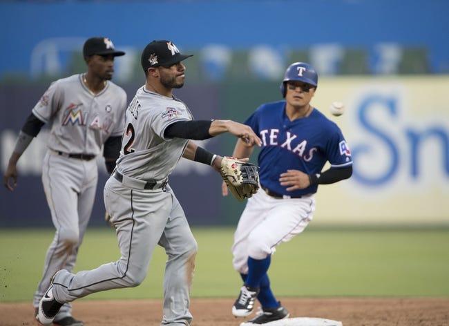 Texas Rangers vs. Miami Marlins - 7/26/17 MLB Pick, Odds, and Prediction