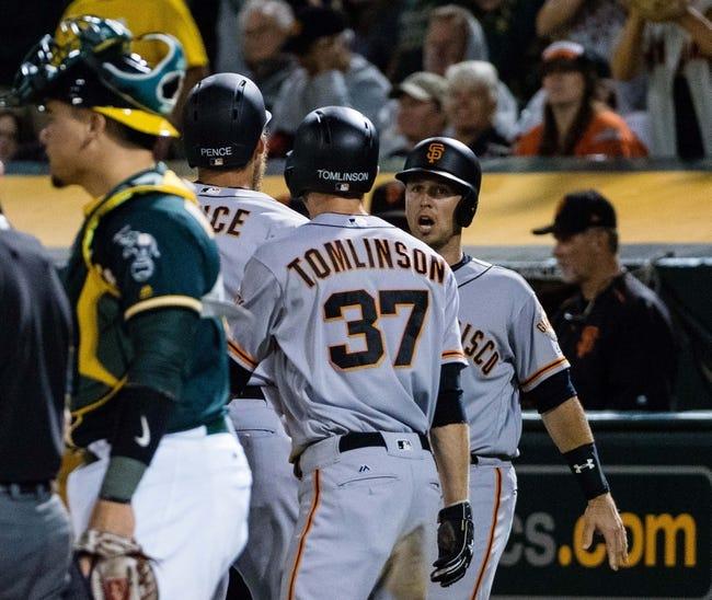 San Francisco Giants vs. Oakland Athletics - 8/2/17 MLB Pick, Odds, and Prediction