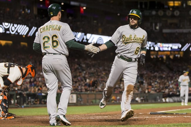San Francisco Giants vs. Oakland Athletics - 8/3/17 MLB Pick, Odds, and Prediction