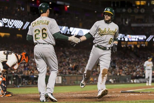 San Francisco Giants vs. Oakland Athletics - 8/3/17 MLB Pick, Odds, and Prediction