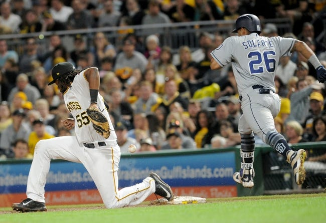 Pittsburgh Pirates vs. San Diego Padres - 8/6/17 MLB Pick, Odds, and Prediction