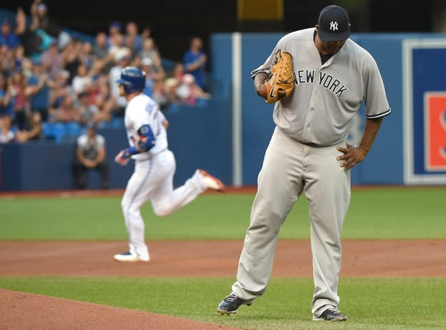 Toronto Blue Jays vs. New York Yankees - 8/9/17 MLB Pick, Odds, and Prediction