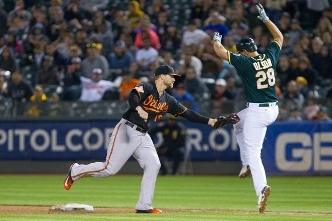 Oakland Athletics vs. Baltimore Orioles - 8/12/17 MLB Pick, Odds, and Prediction