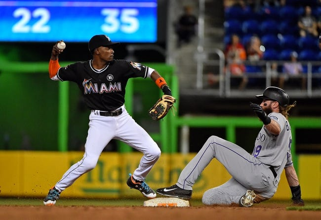 Miami Marlins vs. Colorado Rockies - 8/13/17 MLB Pick, Odds, and Prediction