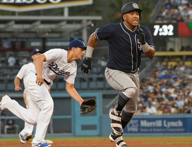 Los Angeles Dodgers vs. San Diego Padres - 8/13/17 MLB Pick, Odds, and Prediction