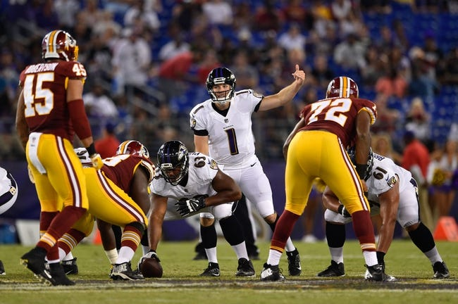 Baltimore Ravens vs. Washington Redskins - 8/30/18 NFL Pick, Odds, and Prediction