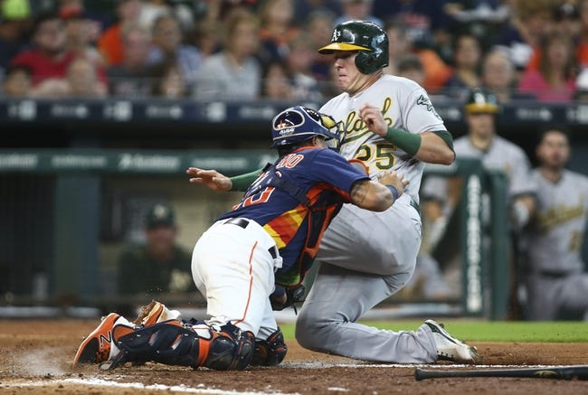 Oakland Athletics vs. Houston Astros Game 1 - 9/9/17 MLB Pick, Odds, and Prediction