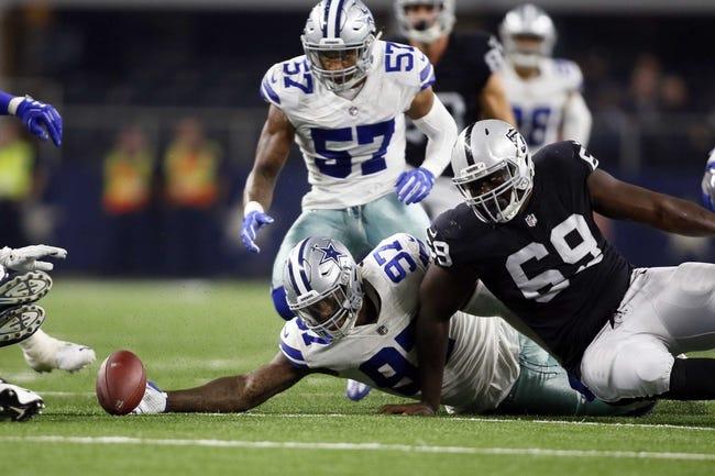 Dallas Cowboys at Oakland Raiders - 12/17/17 NFL Pick, Odds, and Prediction