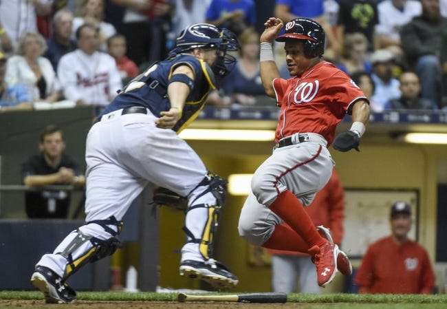 Milwaukee Brewers vs. Washington Nationals - 9/3/17 MLB Pick, Odds, and Prediction