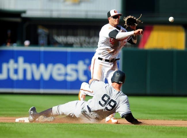 Baltimore Orioles vs. New York Yankees - 9/5/17 MLB Pick, Odds, and Prediction