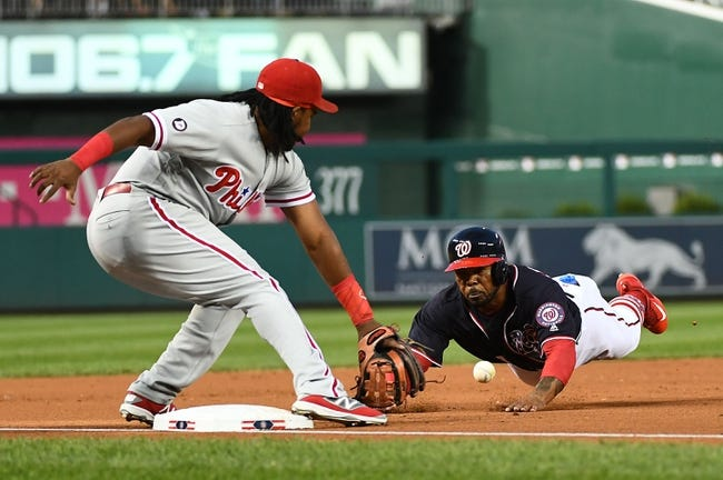 Washington Nationals vs. Philadelphia Phillies - 9/9/17 MLB Pick, Odds, and Prediction