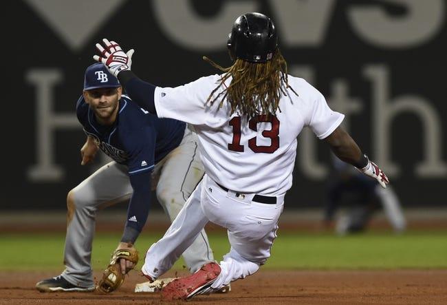 Boston Red Sox vs. Tampa Bay Rays - 9/10/17 MLB Pick, Odds, and Prediction