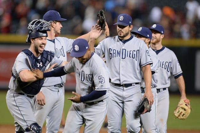 Arizona Diamondbacks vs. San Diego Padres - 9/10/17 MLB Pick, Odds, and Prediction