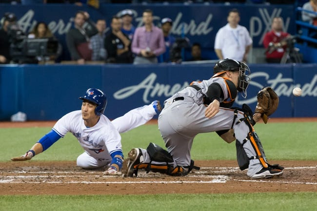 Toronto Blue Jays vs. Baltimore Orioles - 9/13/17 MLB Pick, Odds, and Prediction