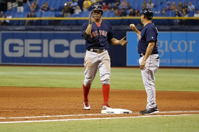 Tampa Bay Rays vs. Boston Red Sox - 9/16/17 MLB Pick, Odds, and Prediction
