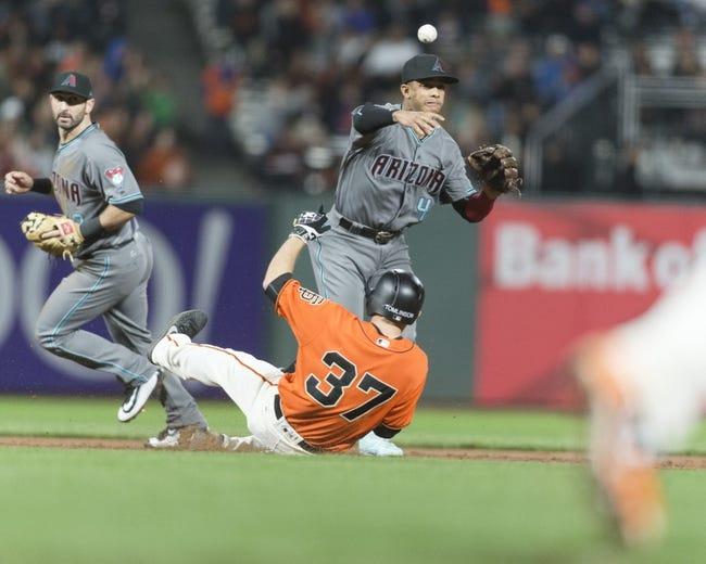 San Francisco Giants vs. Arizona Diamondbacks - 9/16/17 MLB Pick, Odds, and Prediction