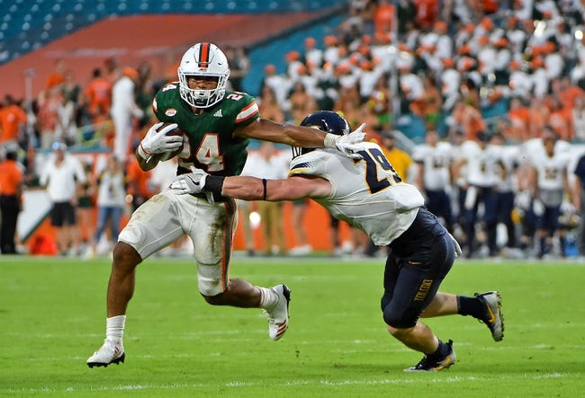 CFB | Miami-FL Hurricanes (1-1) at Toledo Rockets (1-0)