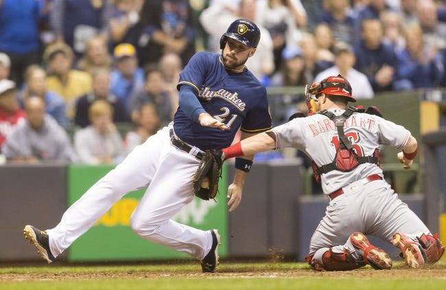 Milwaukee Brewers vs. Cincinnati Reds - 9/28/17 MLB Pick, Odds, and Prediction