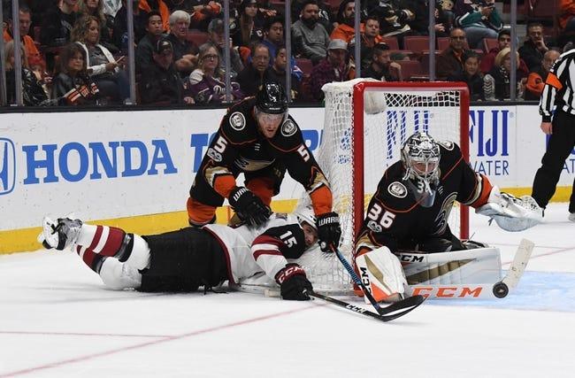 Arizona Coyotes vs. Anaheim Ducks - 4/7/18 NHL Pick, Odds, and Prediction