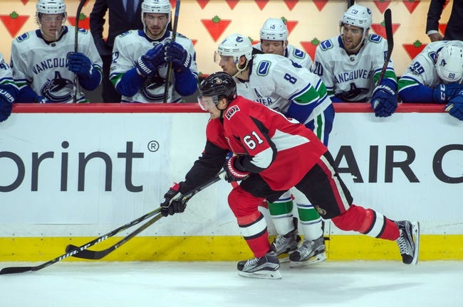 NHL | Vancouver Canucks (19-19-4) at Ottawa Senators (15-21-4)