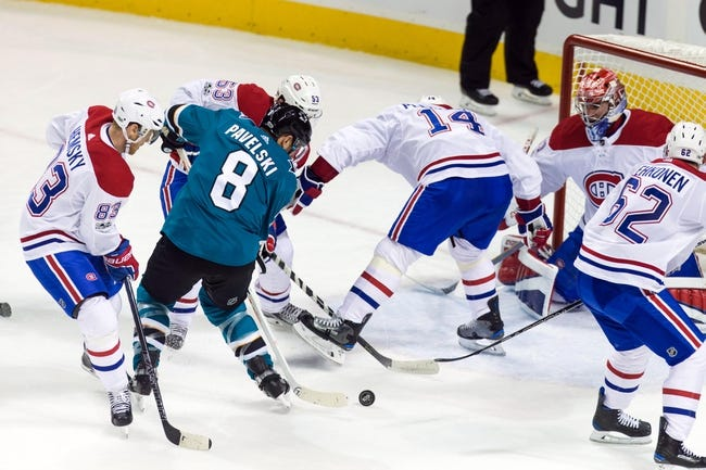 Montreal Canadiens vs. San Jose Sharks - 1/2/18 NHL Pick, Odds, and Prediction