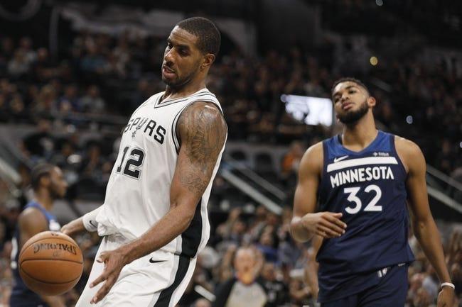 Minnesota Timberwolves vs. San Antonio Spurs - 11/15/17 NBA Pick, Odds, and Prediction