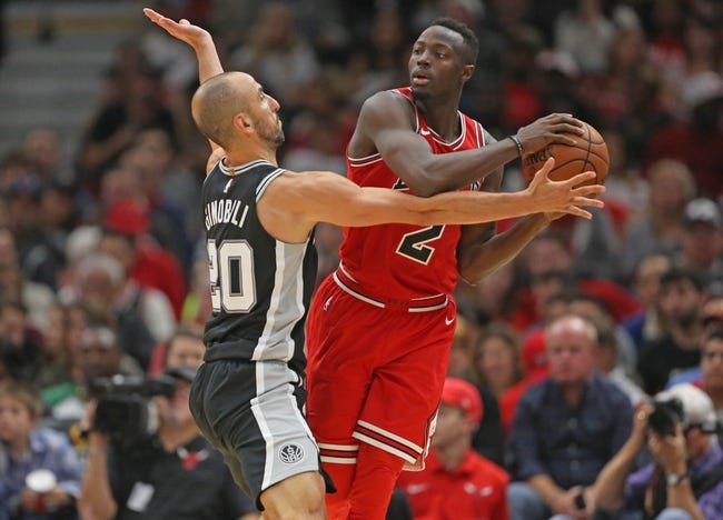 San Antonio Spurs vs. Chicago Bulls - 11/11/17 NBA Pick, Odds, and Prediction