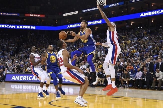 Detroit Pistons vs. Golden State Warriors - 12/8/17 NBA Pick, Odds, and Prediction