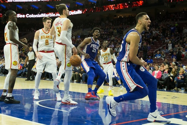 Atlanta Hawks vs. Philadelphia 76ers - 3/30/18 NBA Pick, Odds, and Prediction