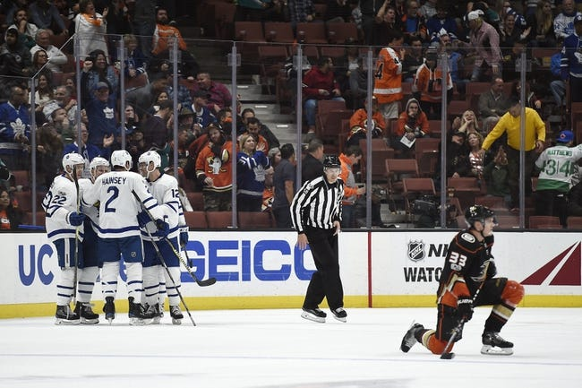 Toronto Maple Leafs vs. Anaheim Ducks - 2/5/18 NHL Pick, Odds, and Prediction