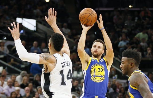 Golden State Warriors vs. San Antonio Spurs - 2/10/18 NBA Pick, Odds, and Prediction