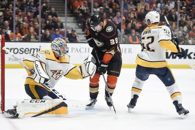 Nashville Predators vs. Anaheim Ducks - 12/2/17 NHL Pick, Odds, and Prediction