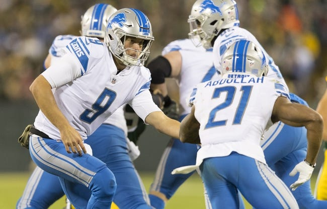 Detroit Lions vs. Cleveland Browns - 11/12/17 NFL Pick, Odds, and Prediction