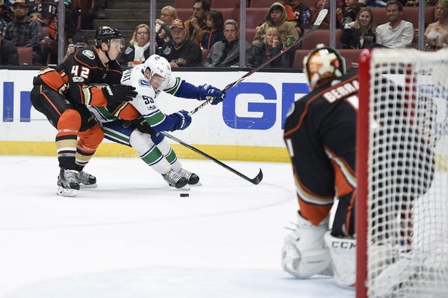 Vancouver Canucks vs. Anaheim Ducks - 1/2/18 NHL Pick, Odds, and Prediction
