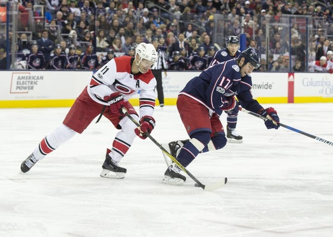 Columbus Blue Jackets vs. Carolina Hurricanes - 11/28/17 NHL Pick, Odds, and Prediction